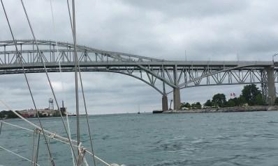 July 17 Heading under the Bluewater Bridge - Sarnia ON