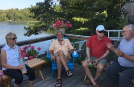 July 31 Deck party at Norm and Elaine's