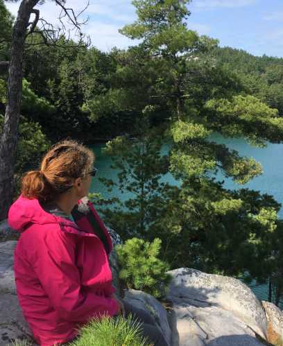August 24 Debbie at Topaz Lake