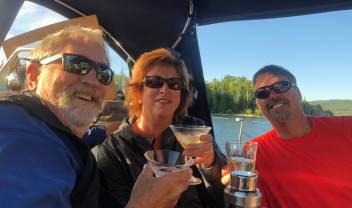 July 17 Smoking Vodka Martinis!