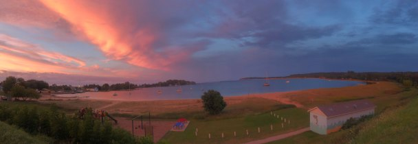 Sept 2 Panoramic view of Grand Marais at sunset