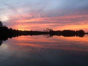 Sept 3 Sunset at Little Lake