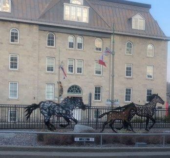 Oct 23 Horse sculpture