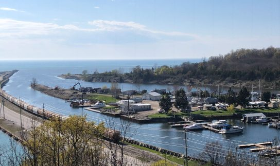 May 15 Overlooking the Maitland Marina in Goderich