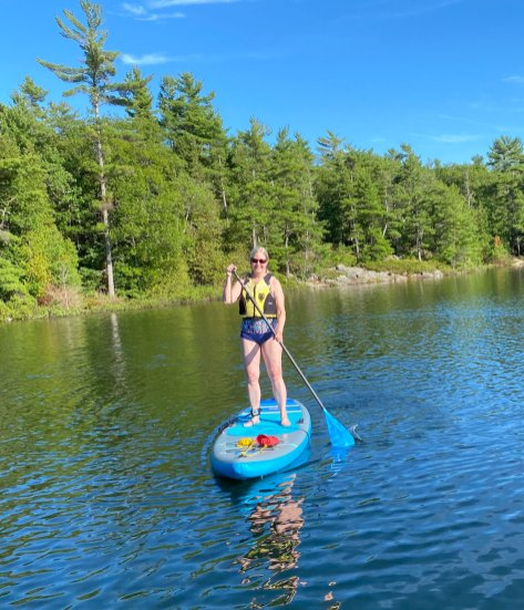 July 21 Testing the new SUP at Crooked Island