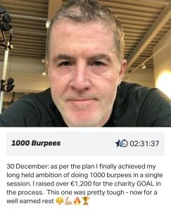 My 1000 Burpee Challenge 1