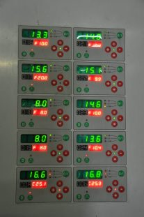 Keeping the right temperature for each tank for freshness and flavour.