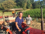 Bauduc 2016 harvest - hand picked white. Nelly and Daniel.
