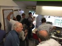 Filming how they cook the famous mussels at Chez Hortense, Cap Ferret.