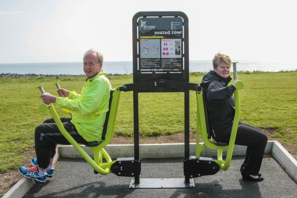 Councillors are really fit for office thanks to Donaghadee outdoor gym!