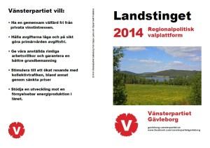 regionalpolitisk plattform 2014 landsting