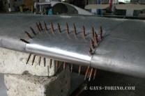 riparazione bordo entrata ala sx