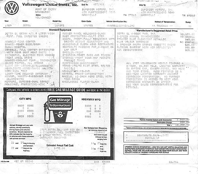 Nick's 1989 Volkswagen Jetta