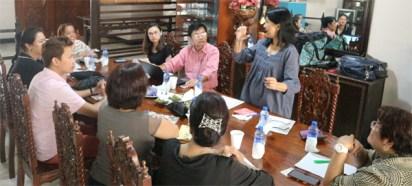 Mirana Medina, GMEFI Board Member Interprets for the Deaf