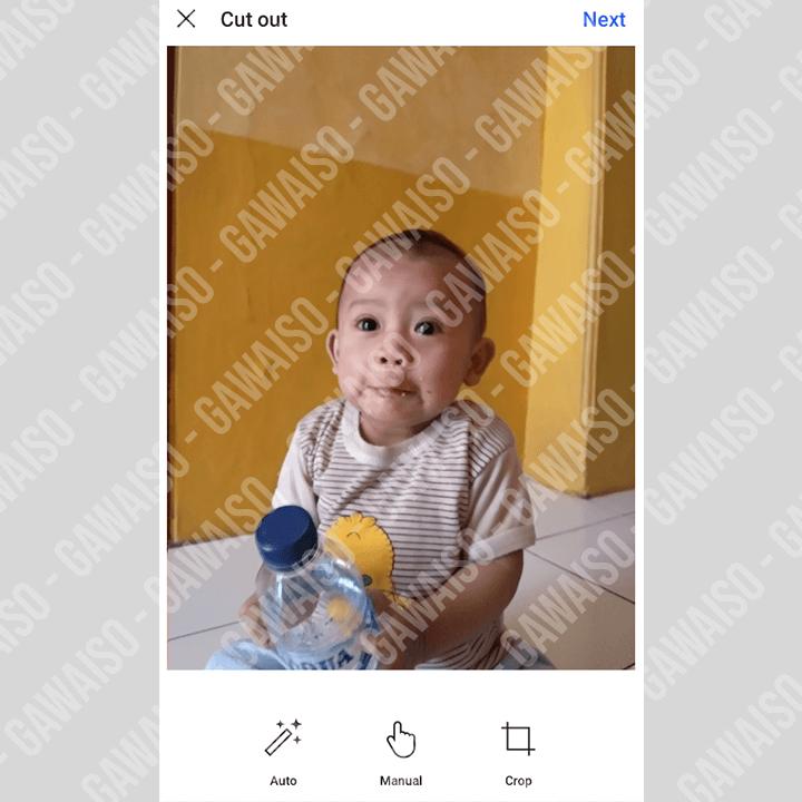 edit foto atau gambar untuk stiker