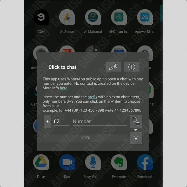 cara chat whatsapp tanpa save nomor - aplikasi click to chat