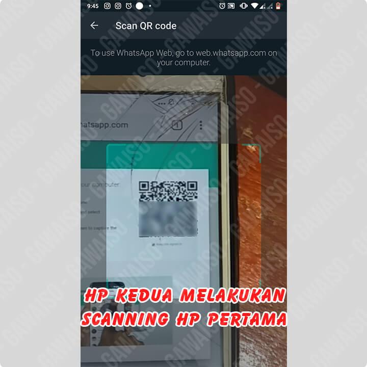 cara membuat whatsapp 1 nomor 2 hp - scan qr code