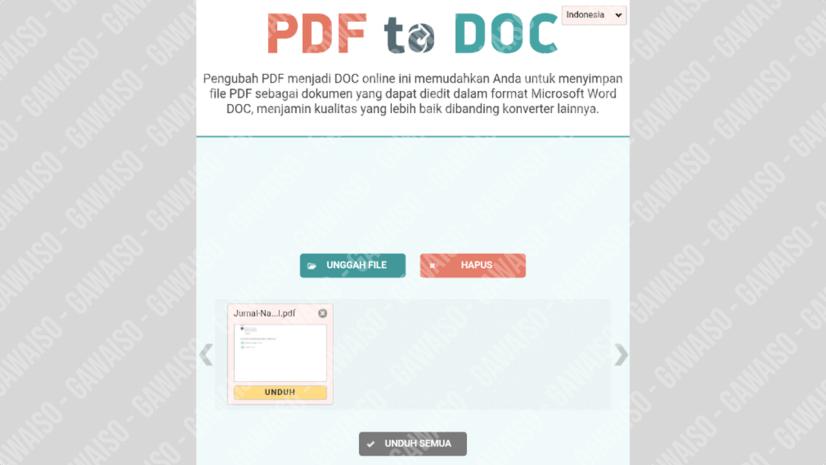 cara merubah file pdf ke word - pdf2doc