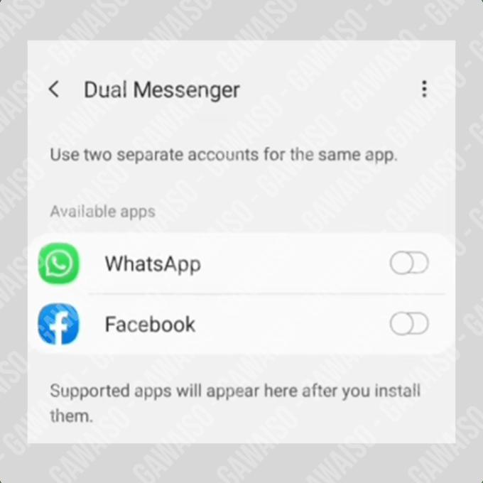 dual messenger samsung - dual wa