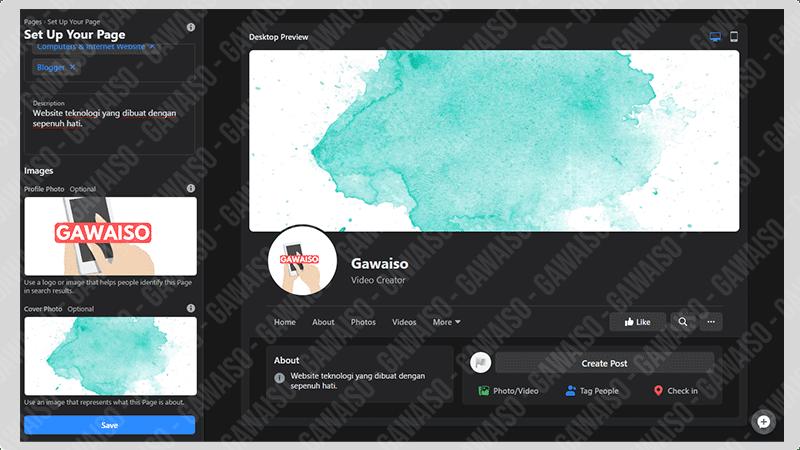 cara membuat fanspage facebook - profil pict and cover