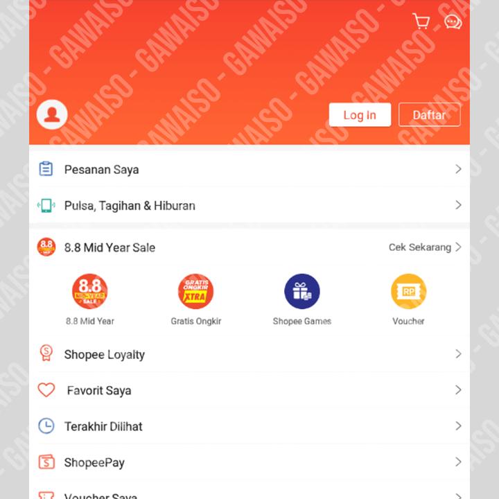daftar shopee klik ikon profil
