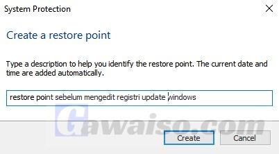 cara membuat restore point 4