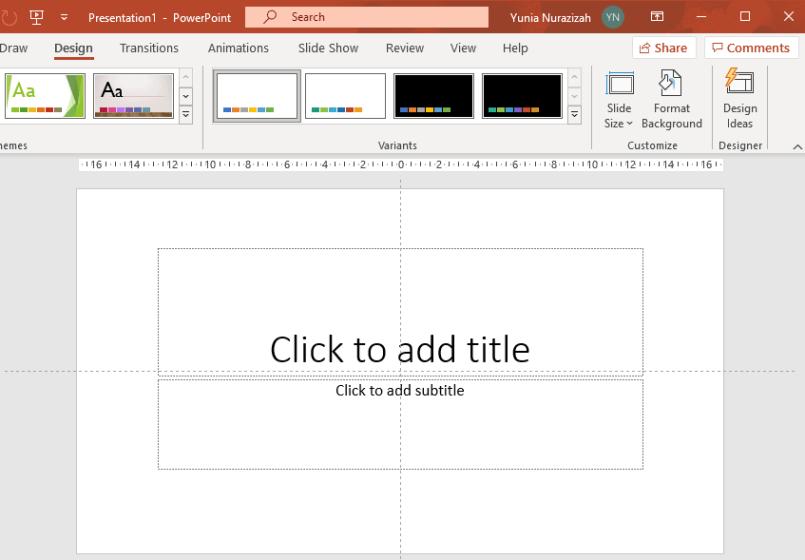 menu design slide size