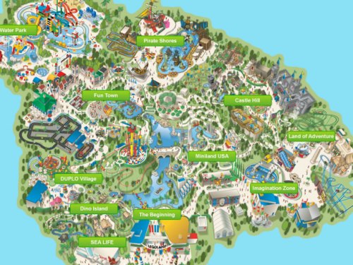 Halloween Destinations: Legoland Map, Halloween San Diego, California
