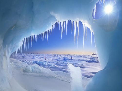 Amazing Survival Stories: View from an ice cave on Ellesmere Island Canada