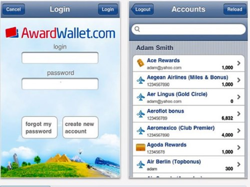 Award Wallet iPhone App