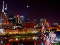 Nashville Tennessee Attractions: Skyline At Night