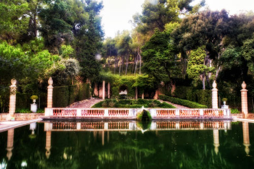 Barcelona, Spain: Egeria's Pond