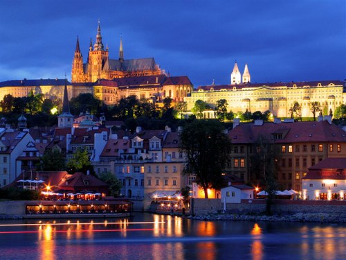 A view from the Charles Bridge in Prague