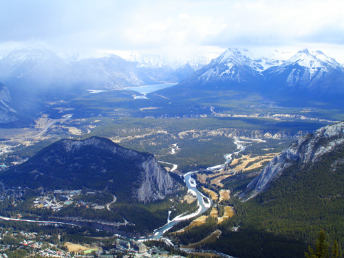 Banff National Park Photos: View from the top