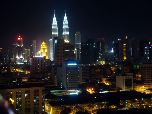 Petronas Twin Towers Night View