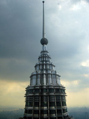 Top of the Petronas West Tower