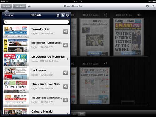PressReader Mobile News App Review