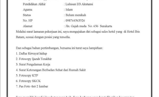 Contoh Surat Lamaran Kerja Sopir Contoh Iko Cute766