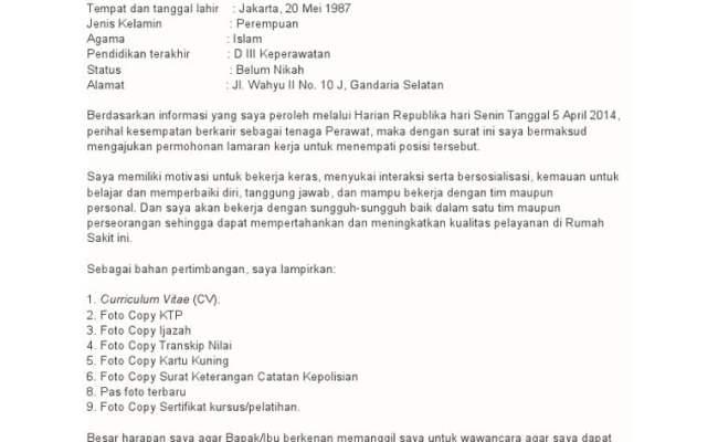 Contoh Surat Lamaran Rumah Sakit Siloam Cute766