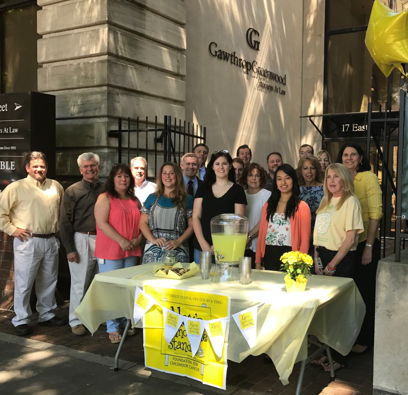 Gawthrop Greenwood Alex's Lemonade Stand 2017