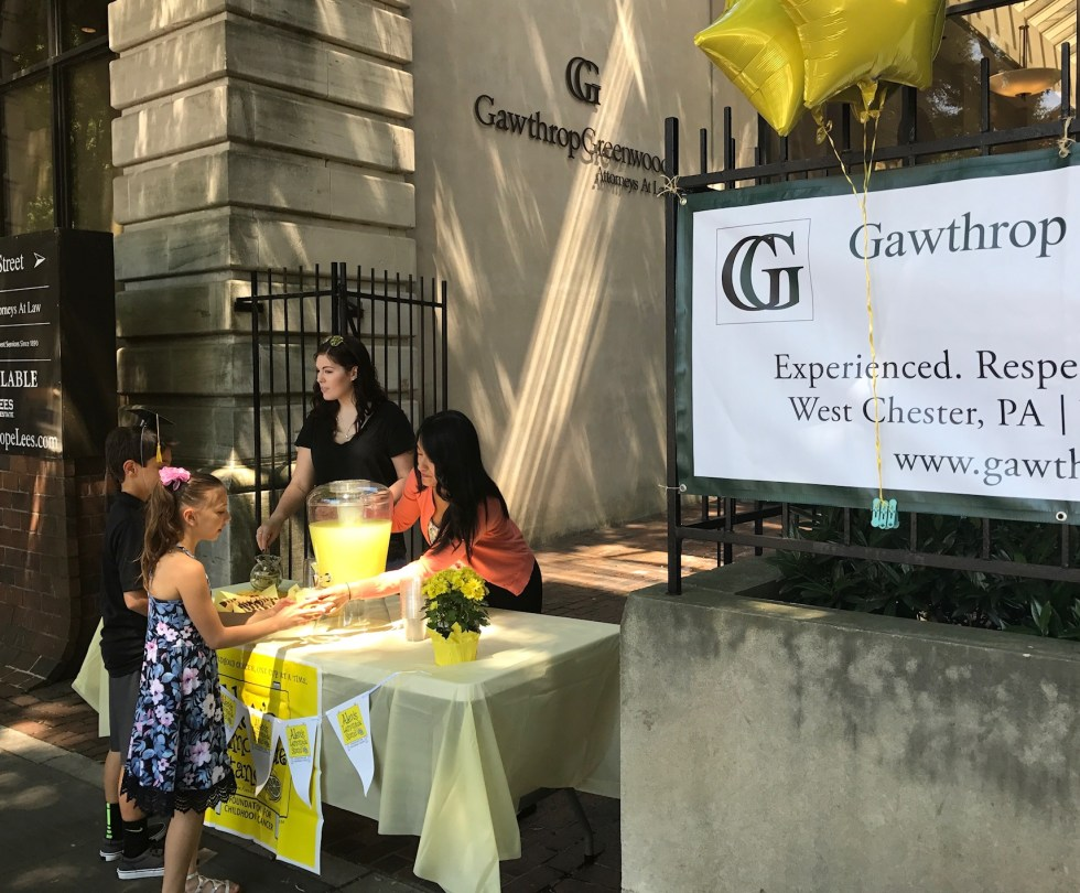 Gawthrop Greenwood Alex's Lemonade Stand 2017 - 2