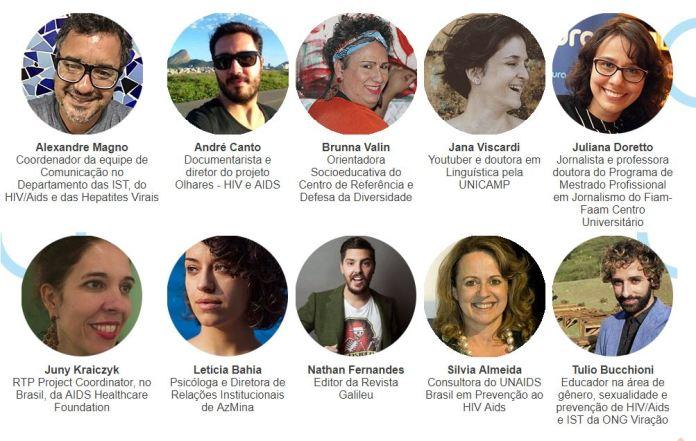 Convidados do 5º Fórum Aids e o Brasil