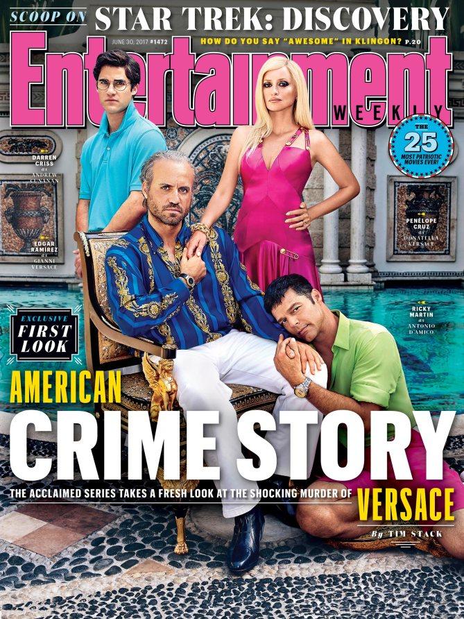 American Crime Story na capa da revista EW (Foto: Reprodução/EW)