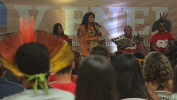 Lideranças nacionais, como Sônia Guajajara, também participaram do Encontro. Foto: André Oliveira/Agência Pública