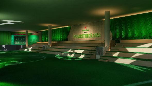 Prédio da Bienal, no Ibirapuera, vai receber 32 músicos promovendo uma experiência inovadora e sensorial para mais de 1.500 fãs do esporte heineken