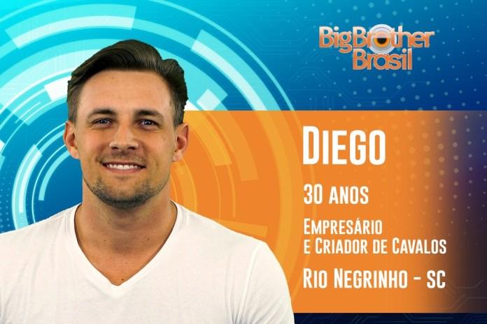Diego é participante do BBB19 — Foto: TV Globo