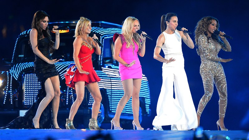Spice Girls na festa de encerramento dos Jogos Olímpicos de Londres