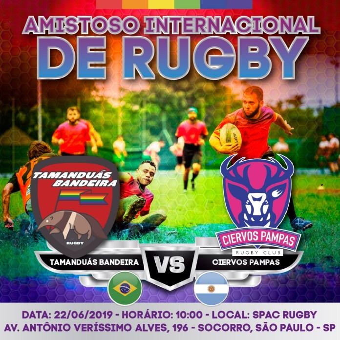 Primeiro Amistoso Internacional de Rugby LGBT+ do Brasil