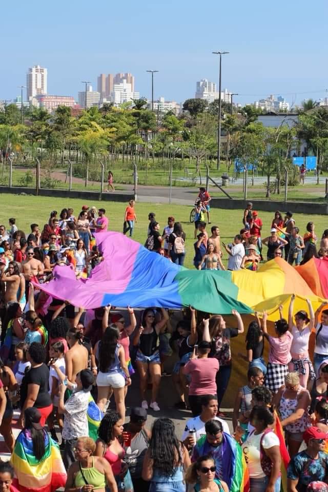 Concentração da 1ª Parada de Praia Grande. Foto: reprodução