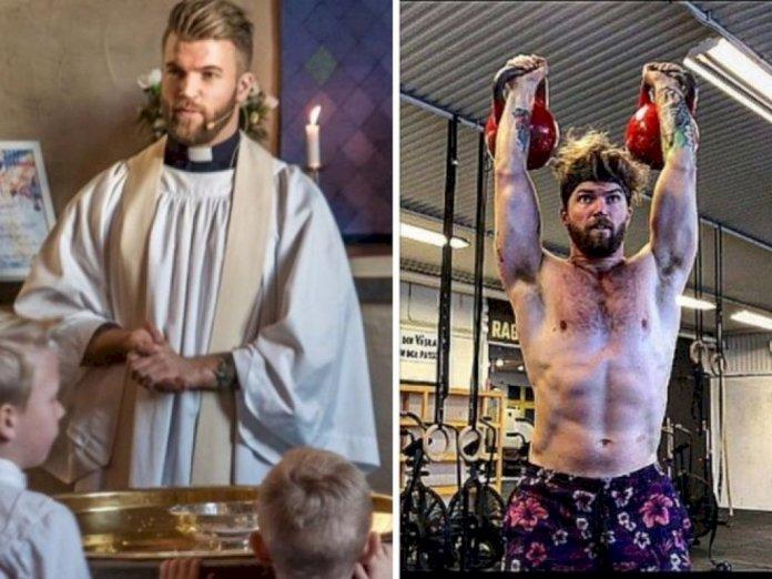 Oskar concilia suas atividades como sacerdote e fisiculturista (Foto: Hot Gaming)